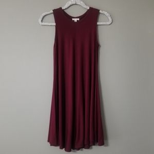 Silence + Noise maroon flowy dress XS